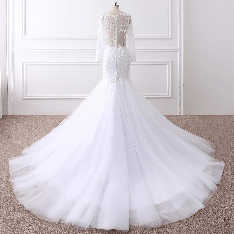 Lace Long Sleeve Mermaid Wedding Dress