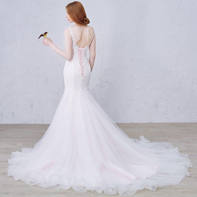 Floor-length Draped Vintage Wedding Dress
