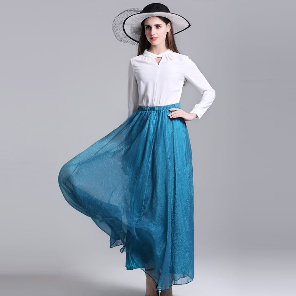 Bohemian Beach Chiffon Maxi Two Ways Wear Skirt
