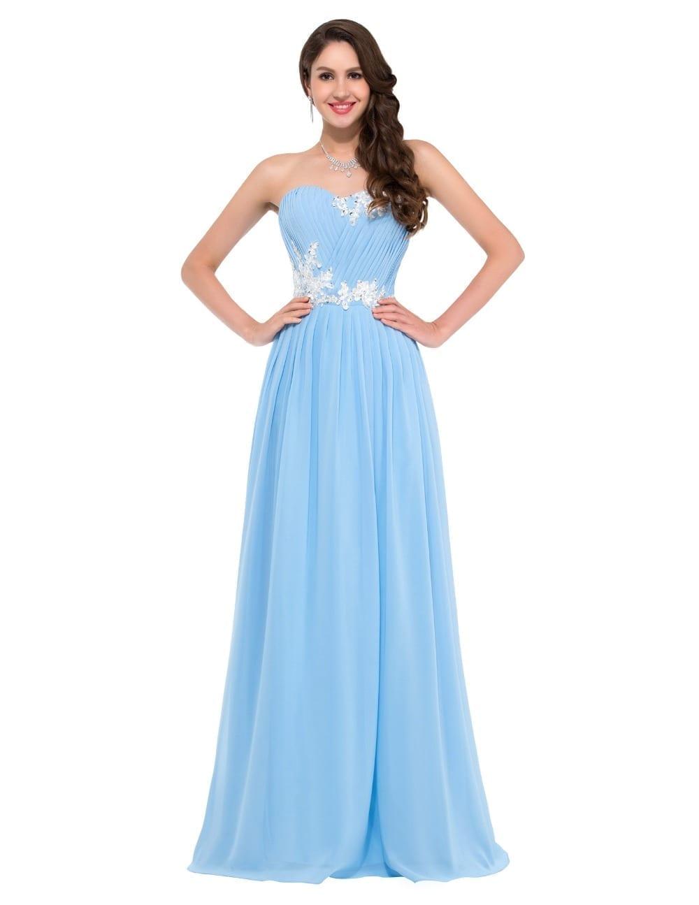Pretty Beaded Sequins Floor Length Sweetheart Bridesmaid Dress