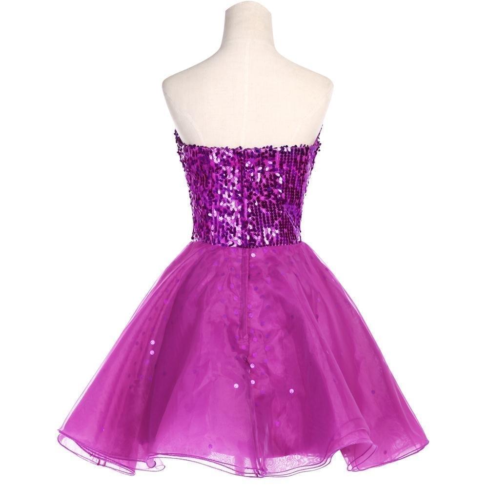 Sparkly sequins short bridesmaid dress for Shop short wedding dresses