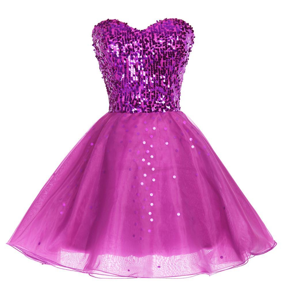 Sparkly Sequins Short Bridesmaid Dress - Uniqistic.com