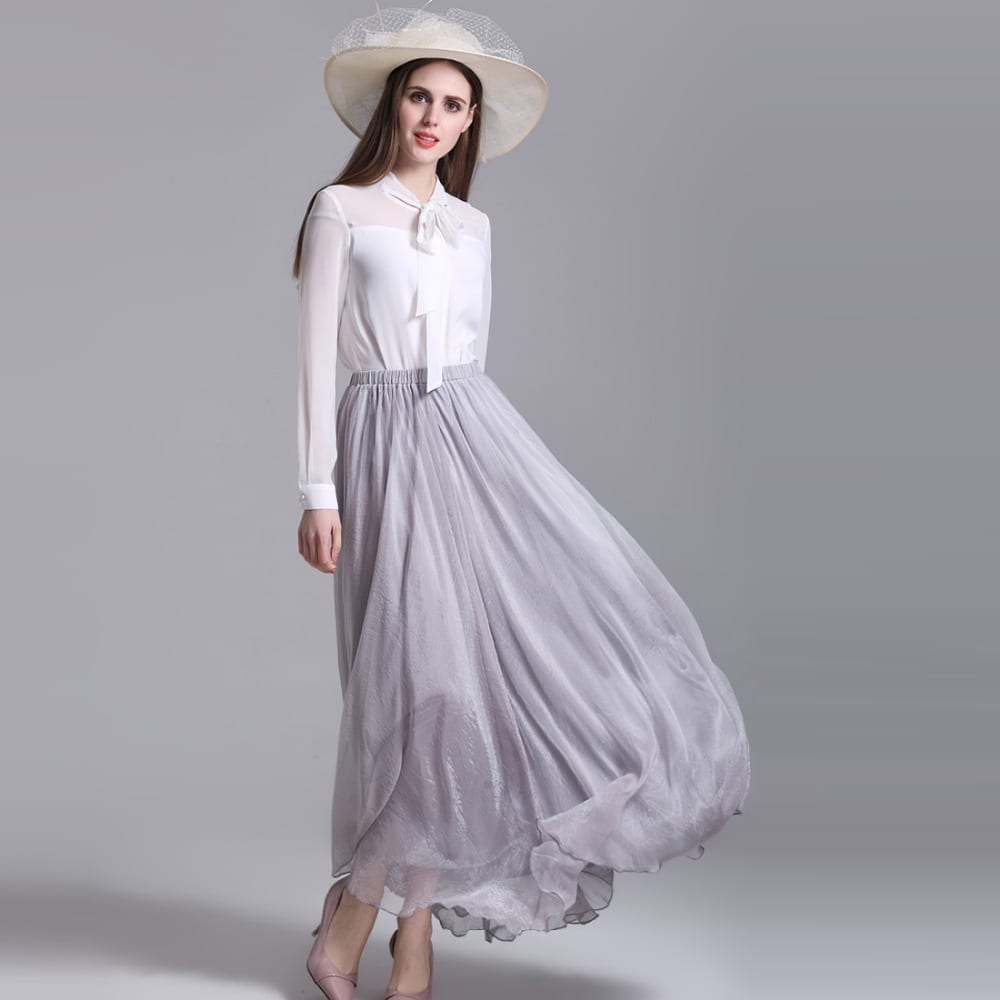 how to wear chiffon skirt