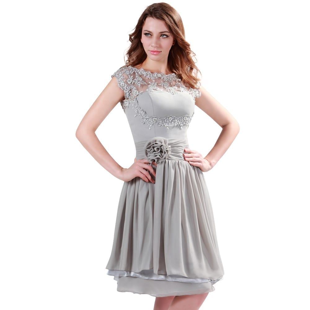 cd60c03acb9 Short Gray Chiffon Bridesmaid Dresses - Gomes Weine AG