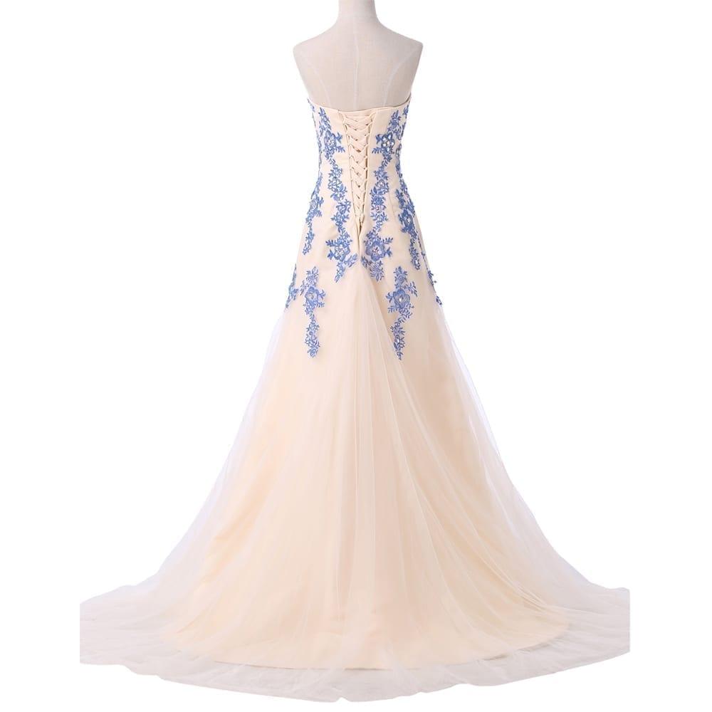 Strapless Tulle Mermaid Floor Length Evening Dress