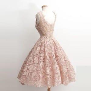 Back champagne dress