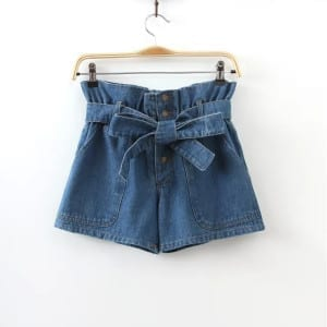 Front bow tie shorts