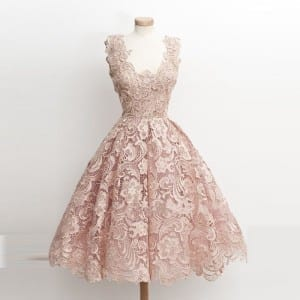 Front champagne dress