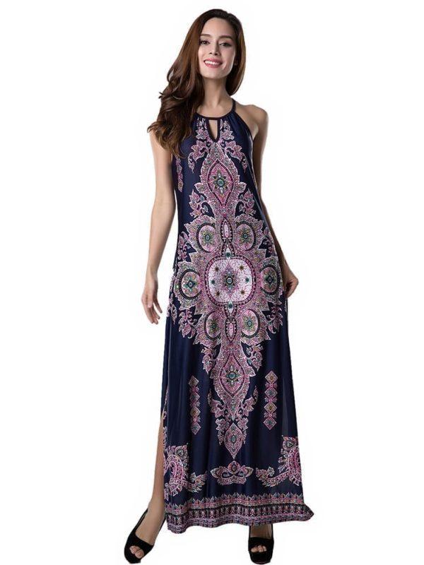Beauty Floral Print Long Dress