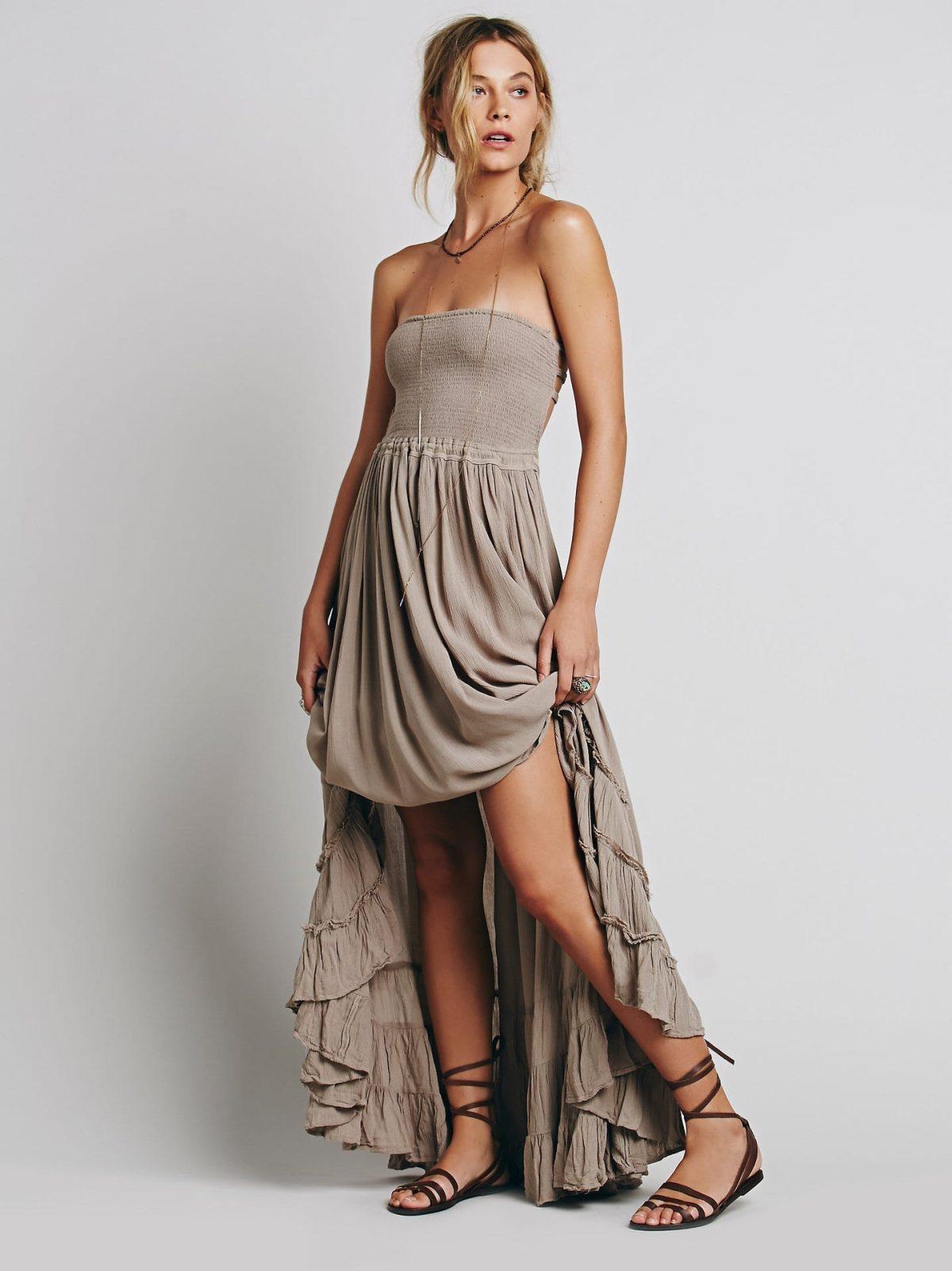 Backless Strapless Long Dress