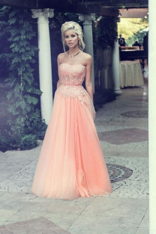Front tulle dress