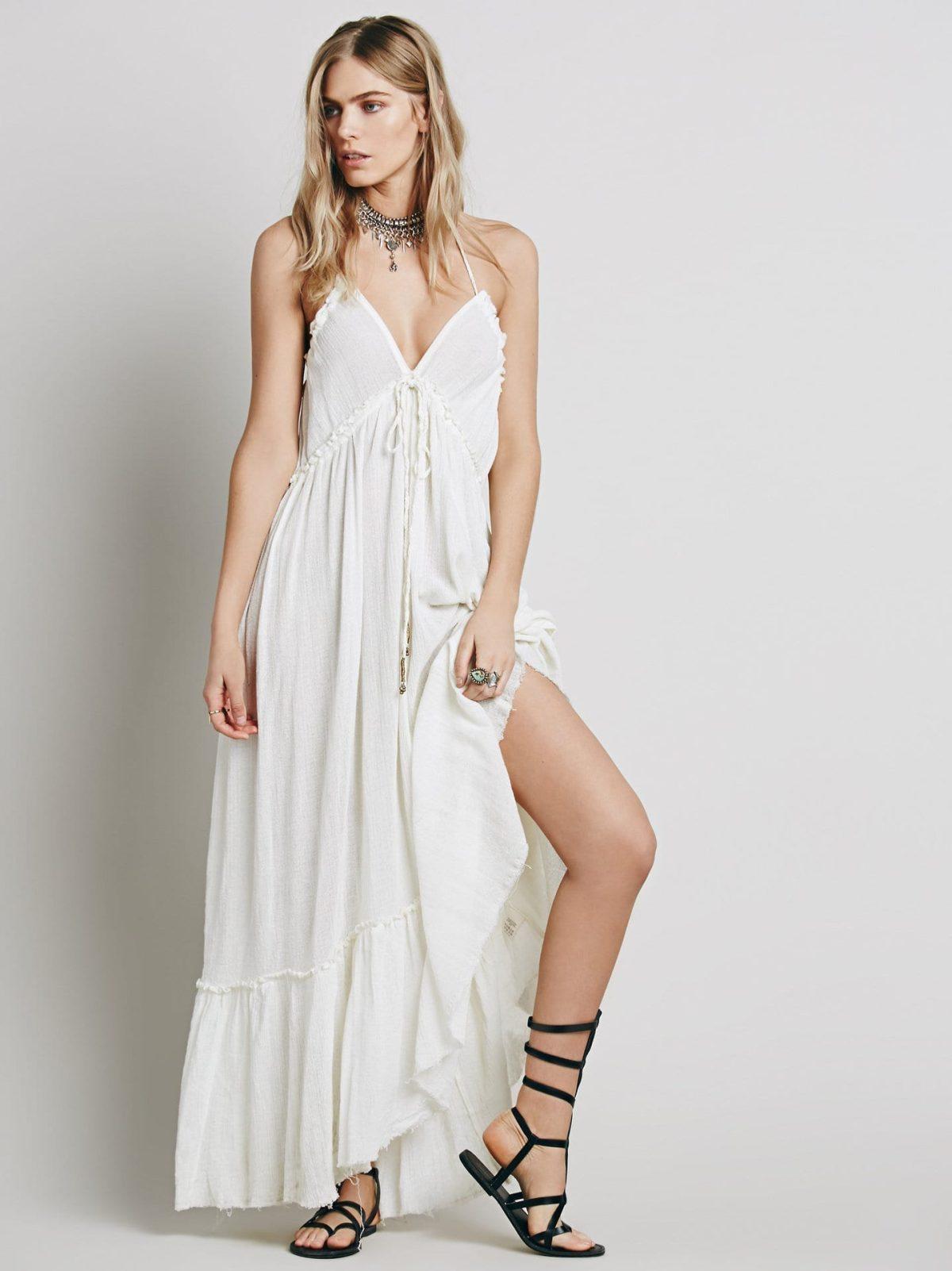 Beauty Backless V-neck Long Dress