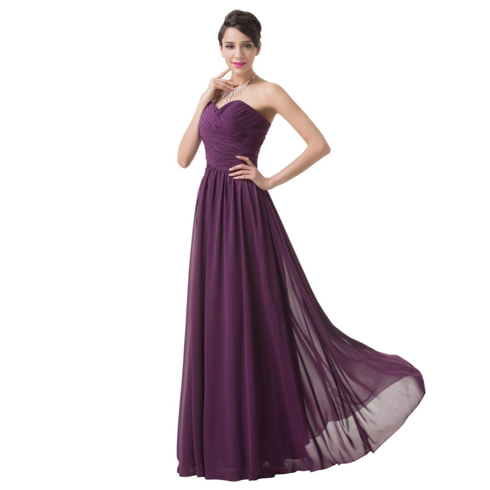 purple dresses for weddings purple chiffon bridesmaid dress uniqistic 6890