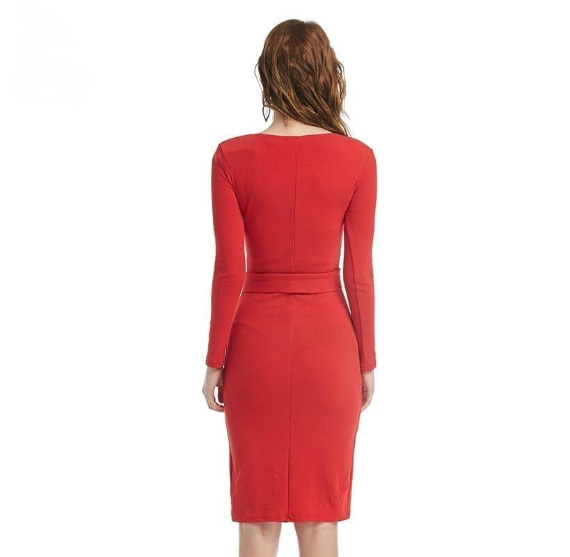 Vintage High Waist Knee-length Dress