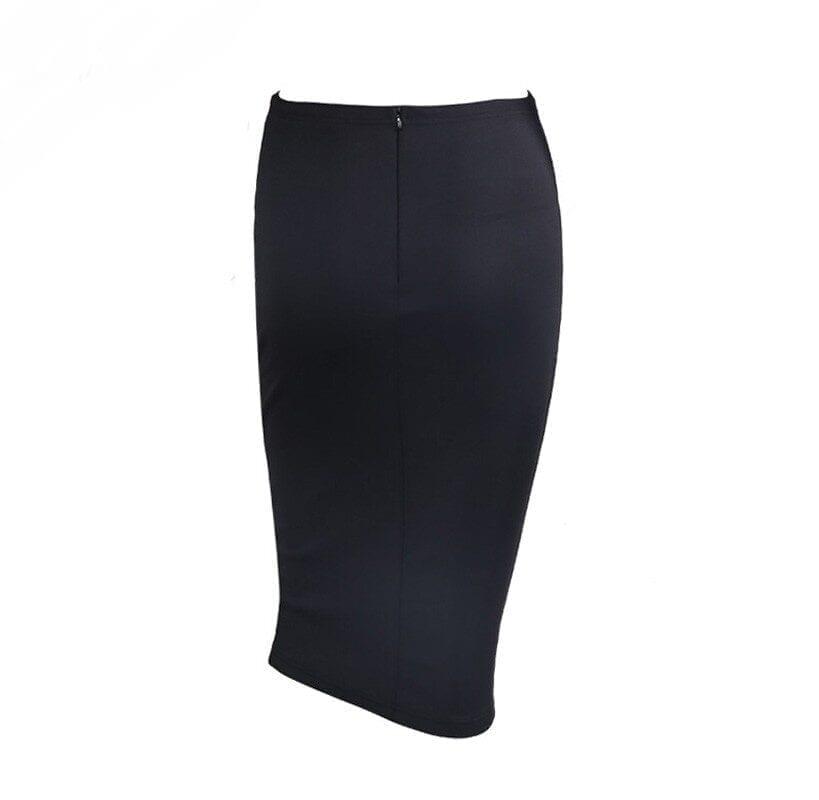 Geometric Retro Rhinestone Pencil Skirt
