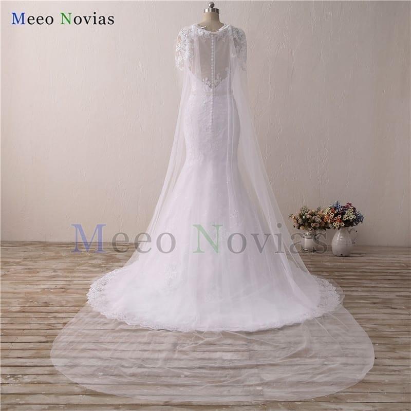 Appliques Sash Beaded Mermaid Wedding Dress