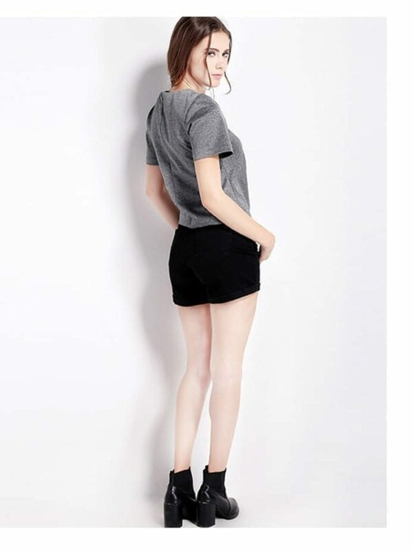 Short Sleeve O-neck Irregular Pleated Top T-shirt
