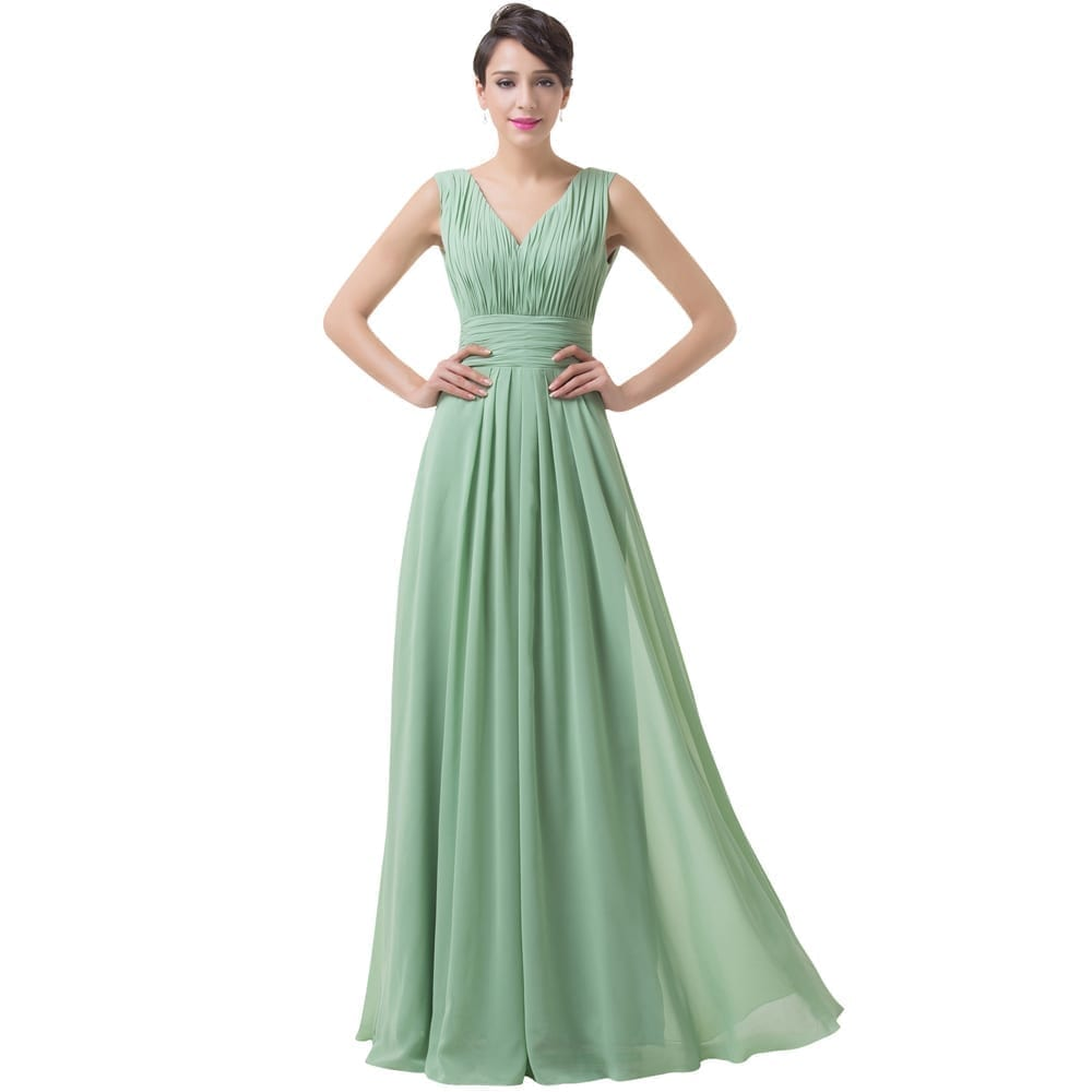 green dresses for wedding green backless chiffon floor length bridesmaid dress 4609