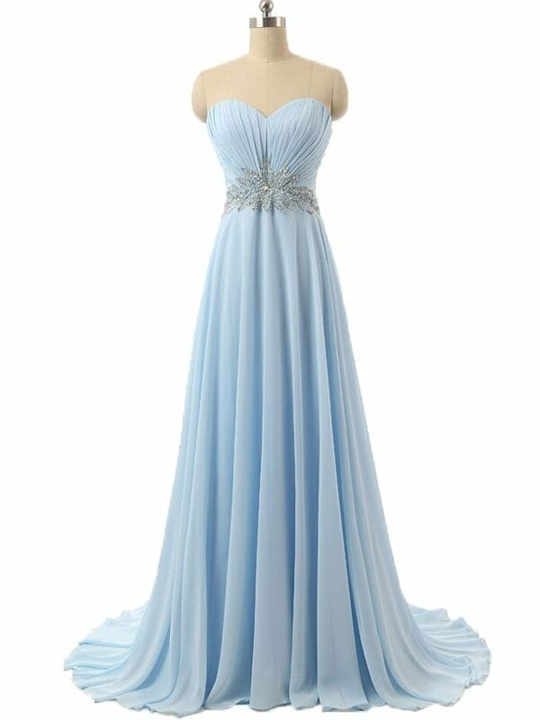 Elegant A-line Sweetheart Off The Shoulder With Beaded Bridesmaid Dress