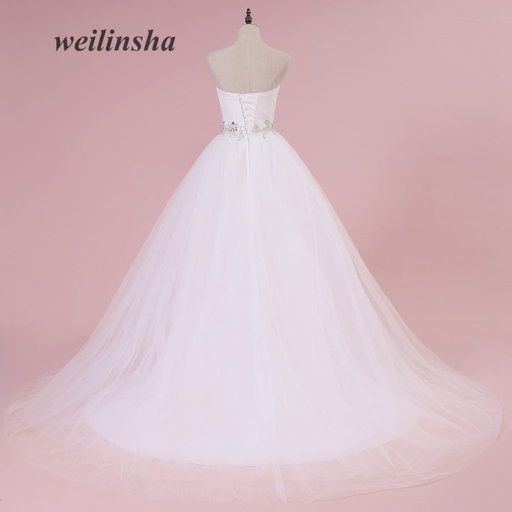 Sweetheart white ivory lace tulle wedding dress for White or ivory wedding dress