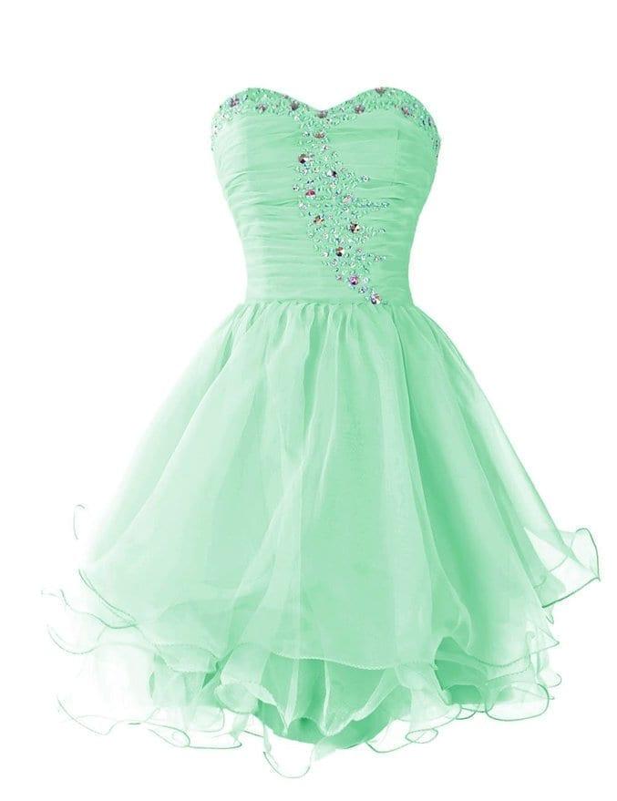 Royal Blue Beading Sweetheart Short Prom Dress With Ruffles