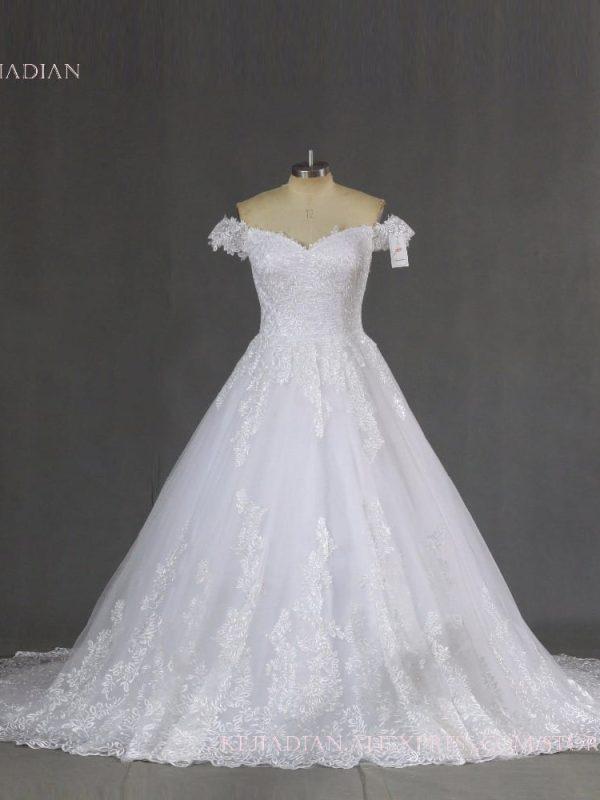 Sweetheart Princess Lace Wedding Dress