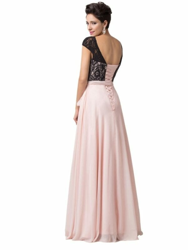 Elegant Lace Chiffon Mother Of The Bride Long Evening Dress