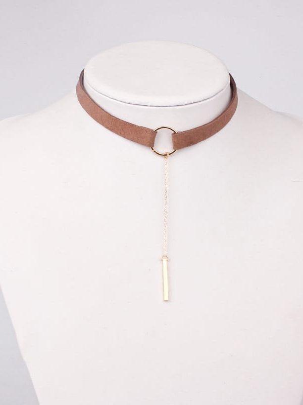 Elegant Simple Small Circle Choker Necklace
