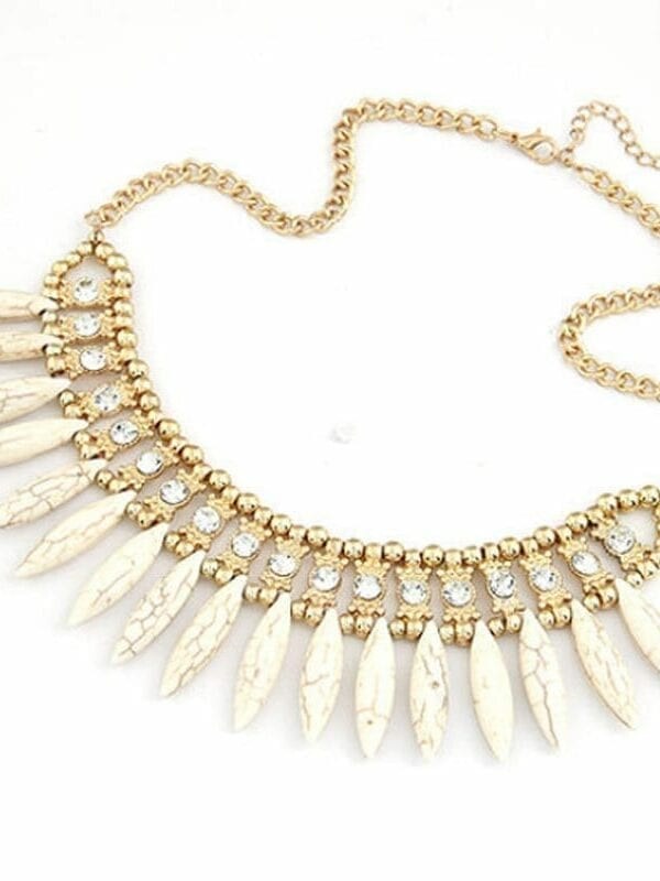 Bohemian Crystal Pendant Necklace