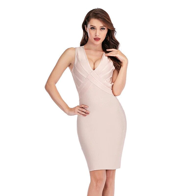Sleeveless Criss-cross Bodycon Bandage Dress