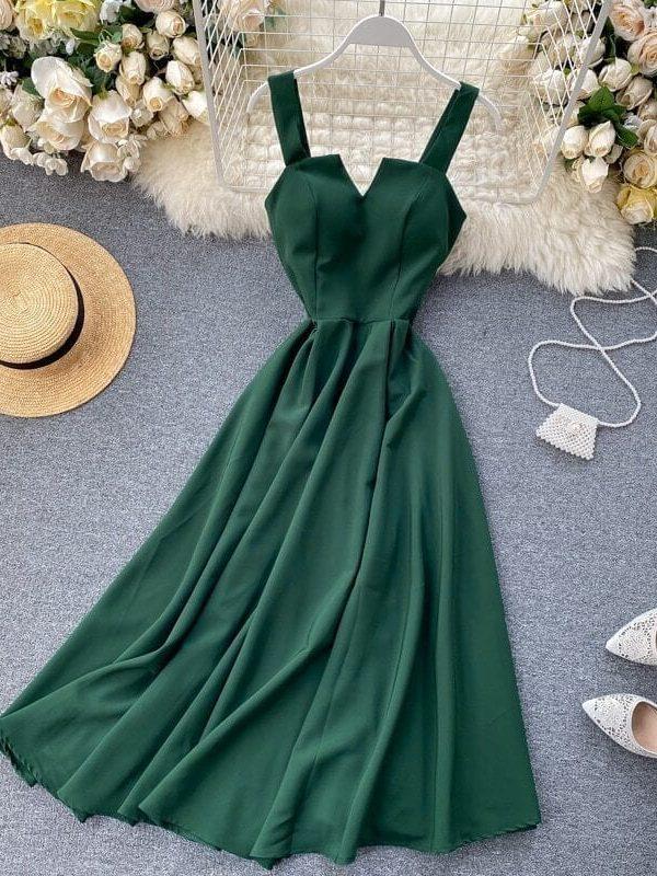 Elegant Vintage Sleeveless V-neck Bandage Dress