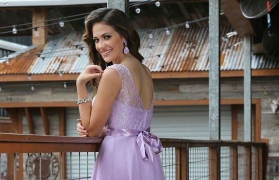 Bow Sashes Light Purple Embroidery Lace Sleevesless Short Bridesmaid Dress