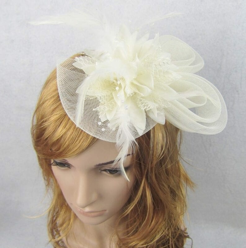 Beautiful Flower Wedding Hat For Bride