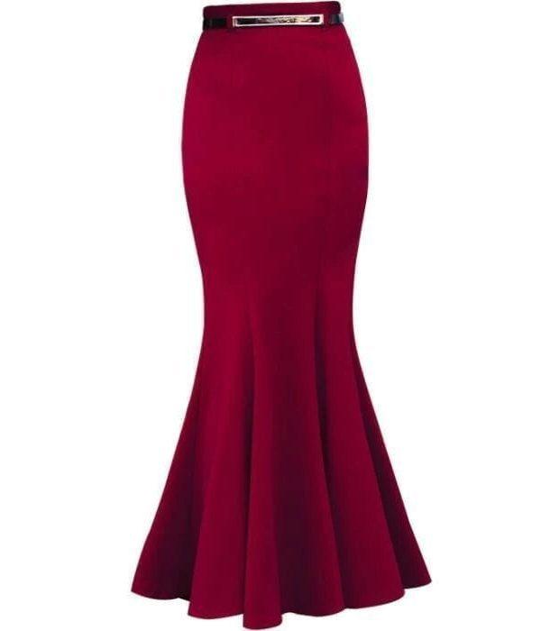 Elegant Floor-length Vintage Mermaid Skirt