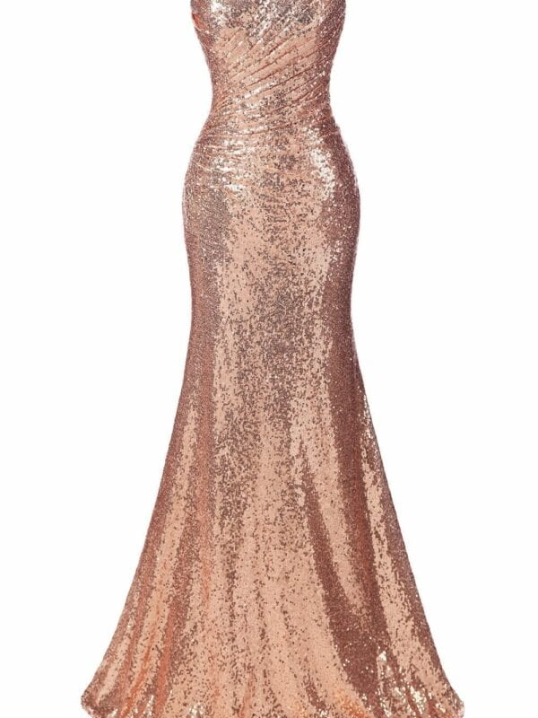Sweetheart Sequin Long Bridesmaid Dress