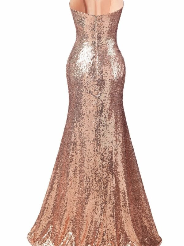 Sweetheart Sequin Long Bridesmaid Dress