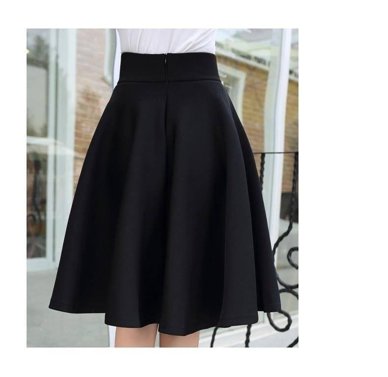 Umbrella Retro Waisted Pleated Skirt