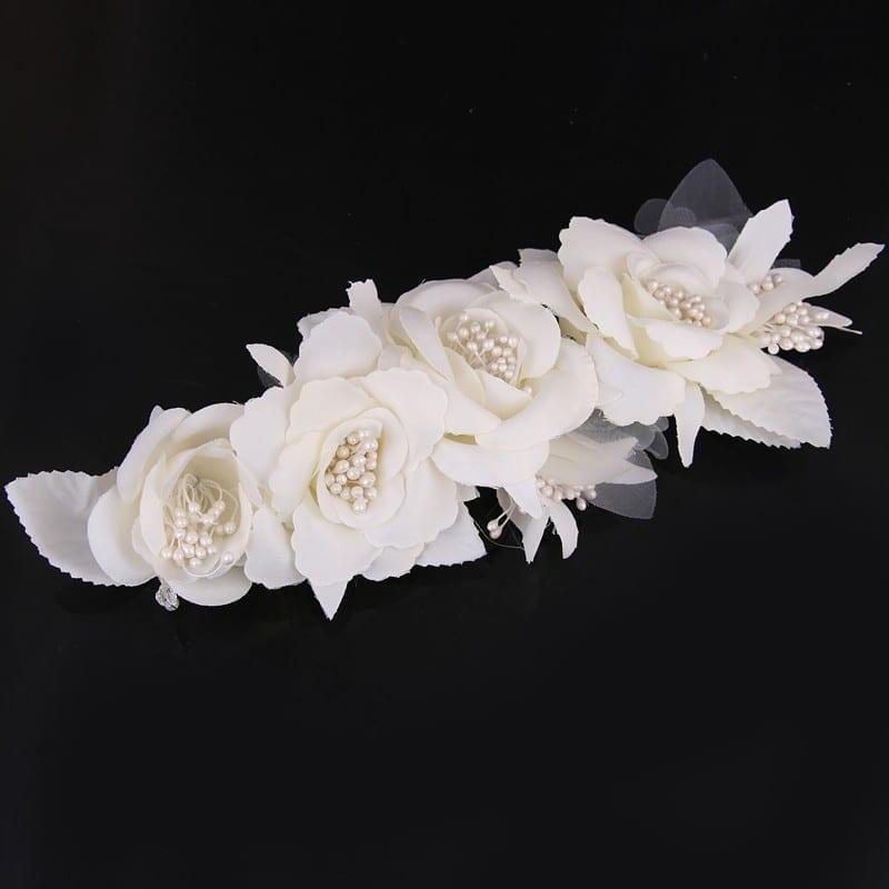 Elegant Bride Flower Pearl Wedding Charming Hair Clips