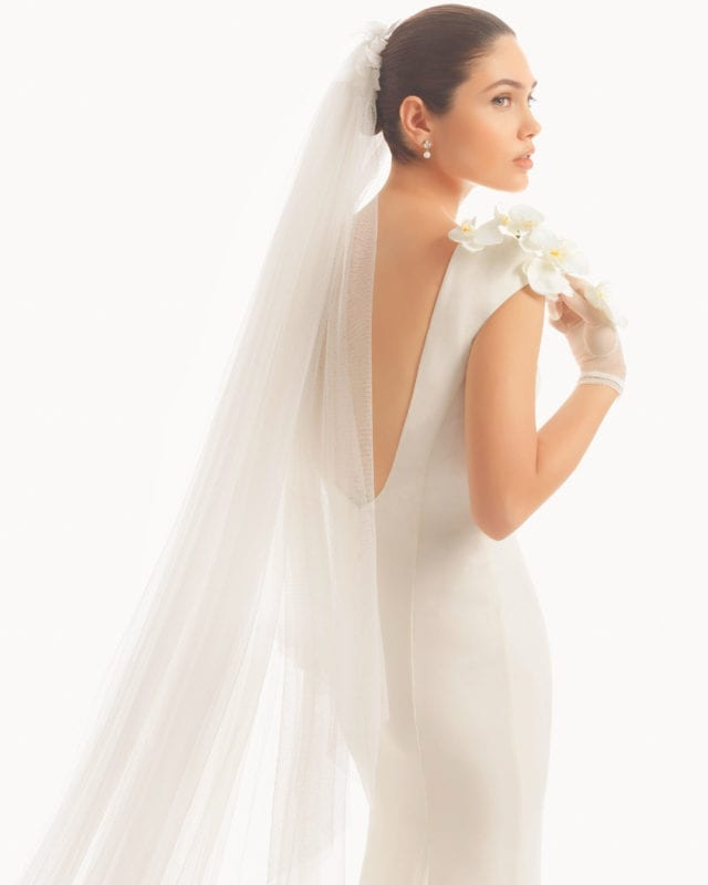 Cathedral Length Wedding Veil With Metal Comb 108 Inch