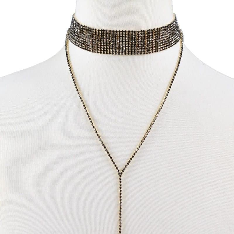 Rhinestone Crystal Luxury Choker Statement Necklace Jewelry
