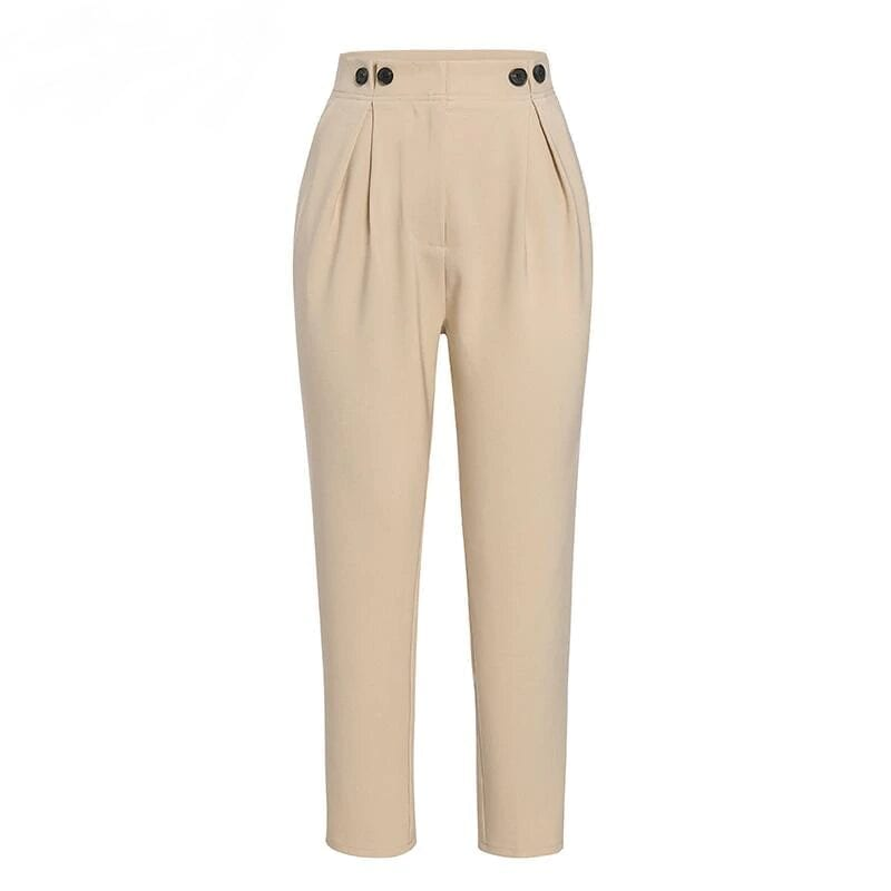 High Waist Office Loose Ankle-length Women Pants