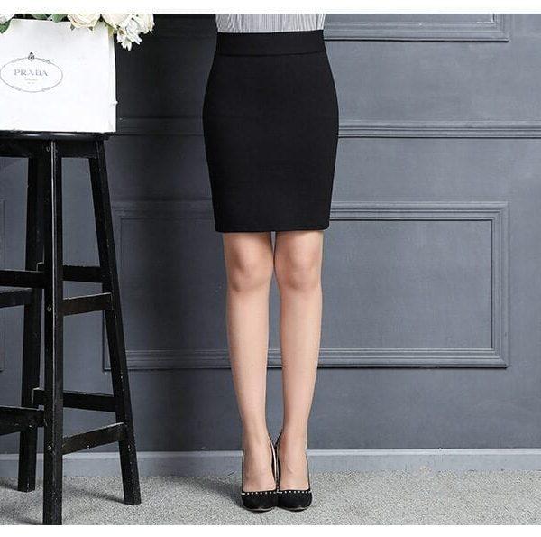High Waist Pencil Office Work Skirt