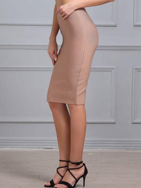 Elegant Knee-length Bandage Bodycon Skirt