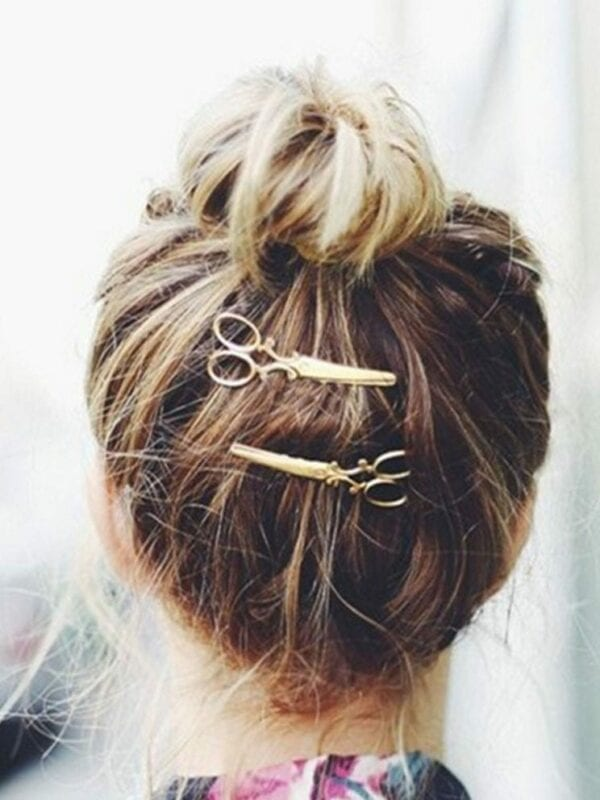 Gold/sliver Hair Clip Women Barrettes Hair Accessories