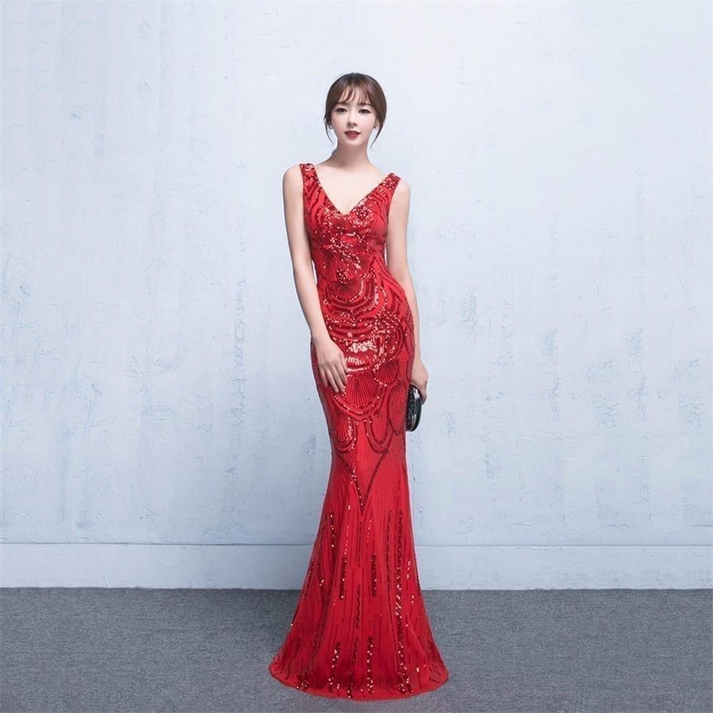 Elegant Sleeveless Long Formal Party Evening Dress