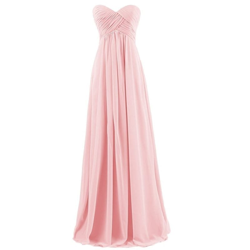 Strapless pink bridesmaid dresses discount wedding dresses for Off the rack wedding dresses san francisco