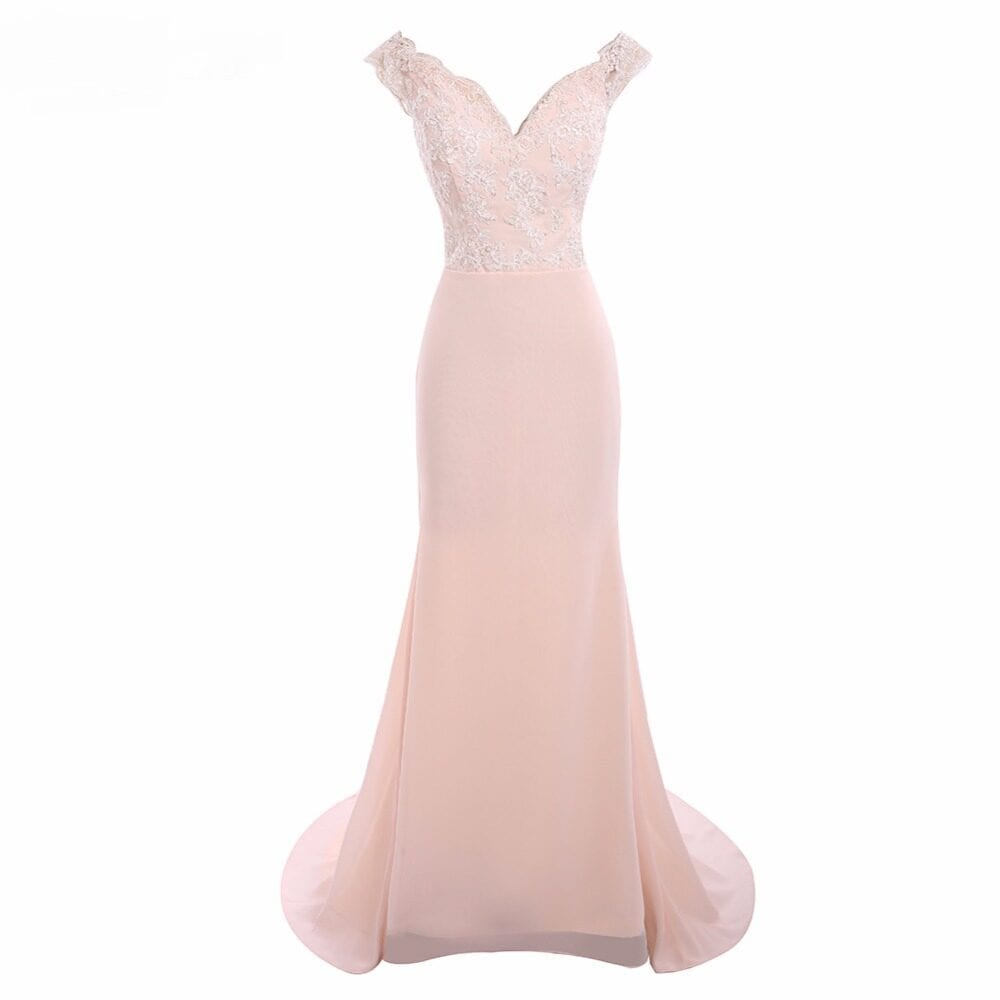 Sweetheart Lace See Through Mermaid Bridesmaid Dress