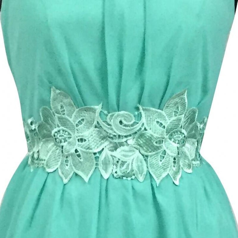 Mint Green High Low Boat Neck Backless Chiffon Bridesmaid Dress