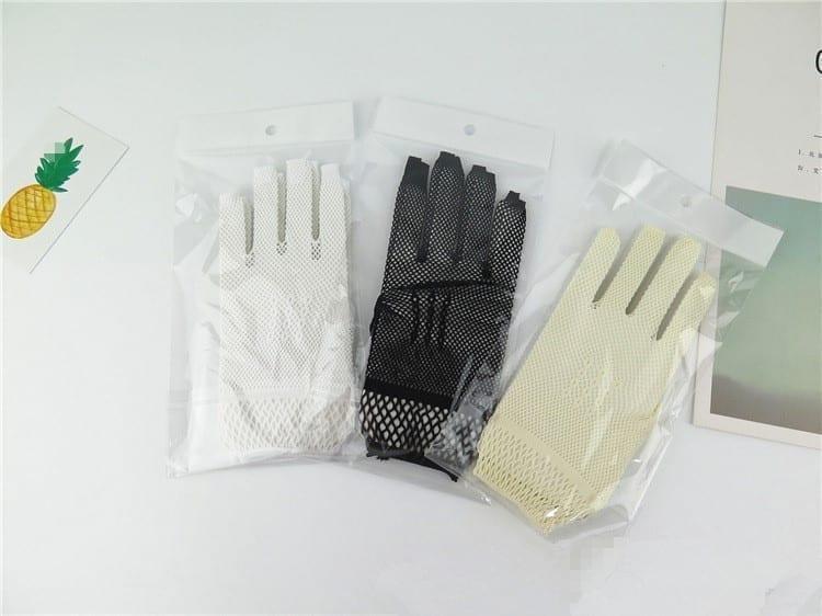 Beautiful White Ivory Black Wedding Gloves