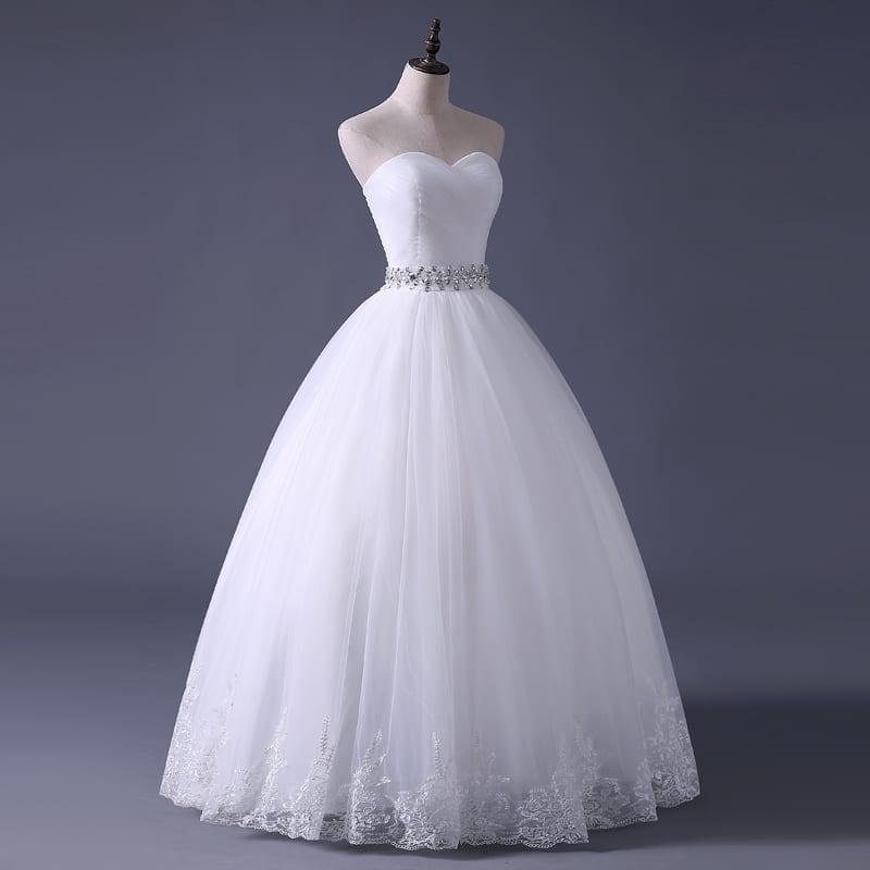 White Off The Shoulder Elegant Wedding Dress